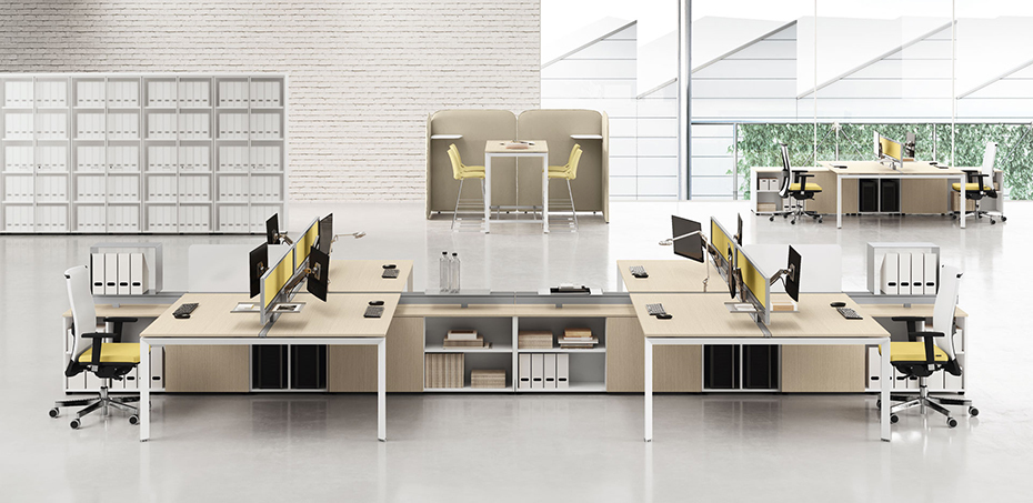 Workstation desking office system 5th element by las - Mobili ufficio moderni ...