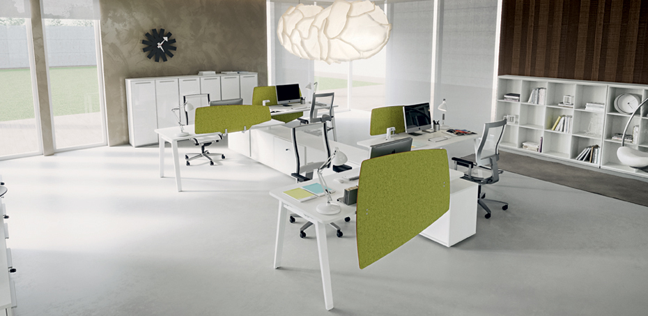 E-Place Workstation Desks by Della Valentina, Design Driusso Associati