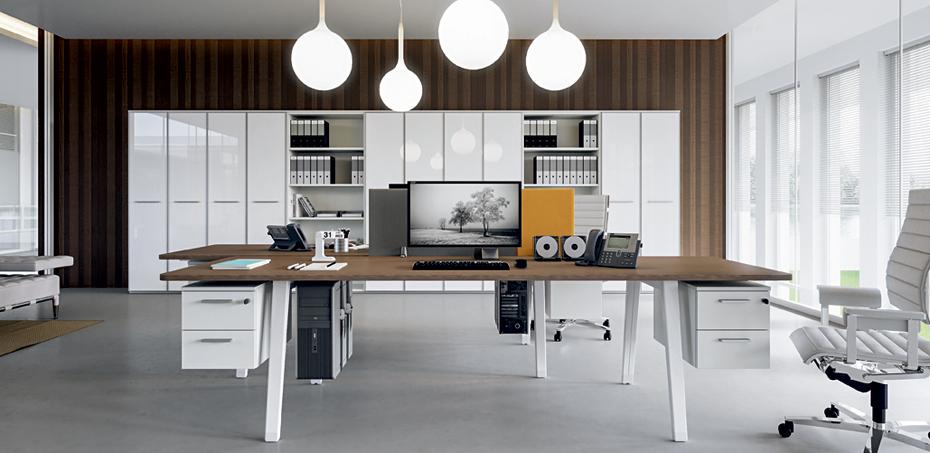 E-Place work desks by Della Valentina