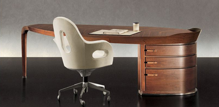 Home > Classic Desk > Executive wooden desk Erasmo by Giorgetti