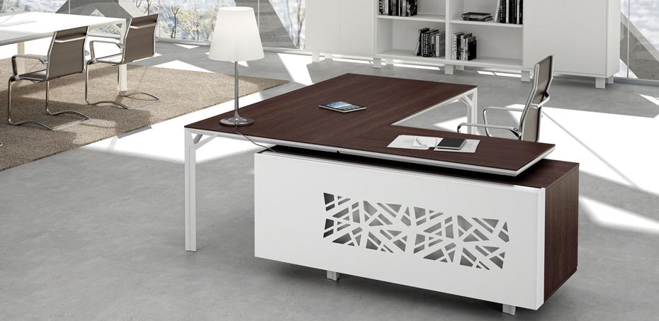 Offcity X8 Executive Melamine Office Desk L Shaped