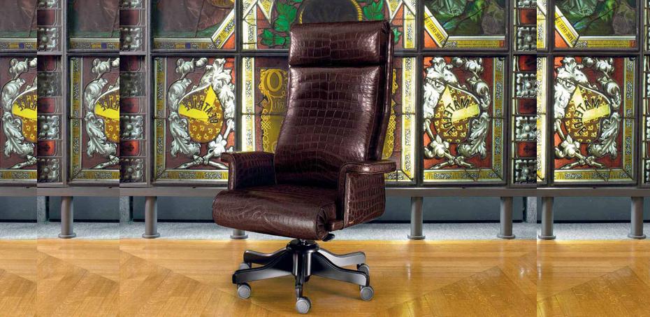 Italian Leather Office Executive Chair