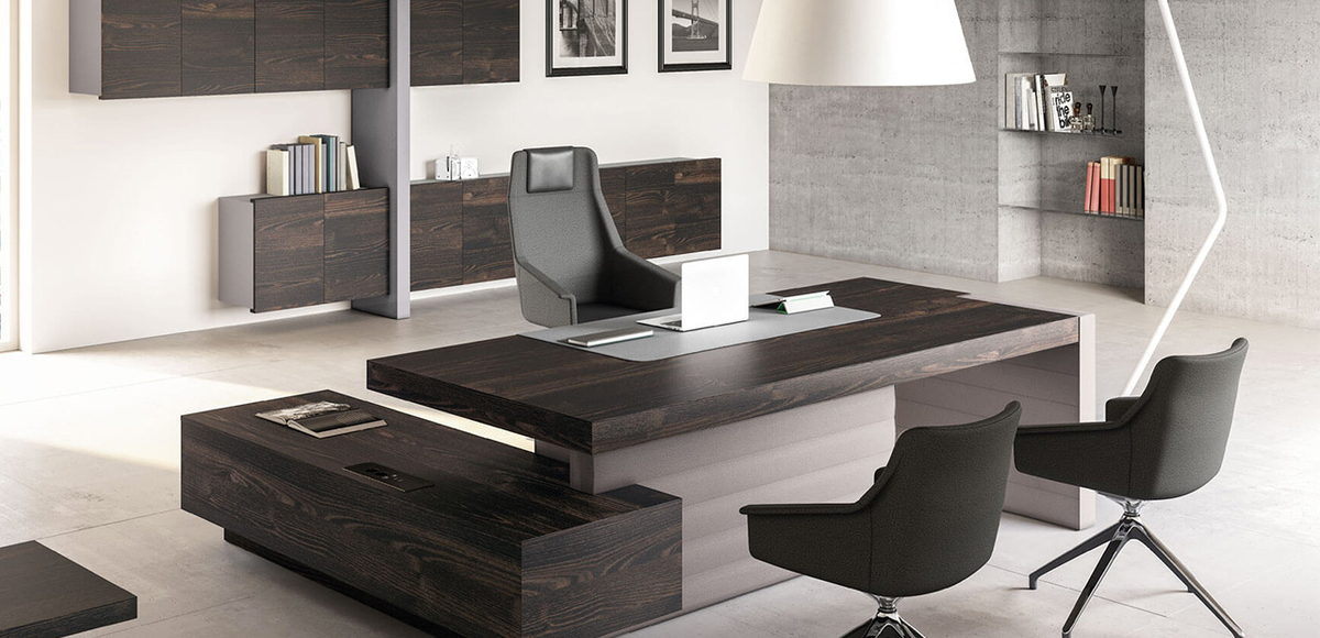 Jera modern office desk by las mobili orlandini designer for Italian design mobili