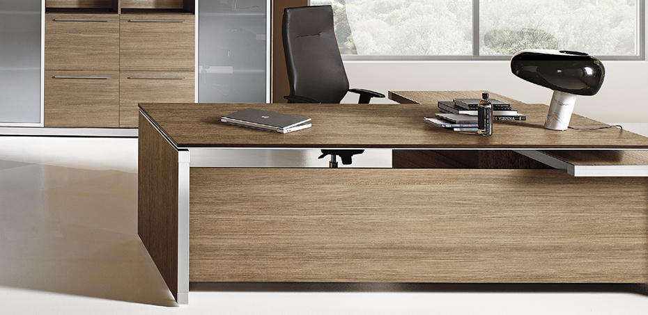 Eos italy executive desk by las mobili minimalist but for Mobili office