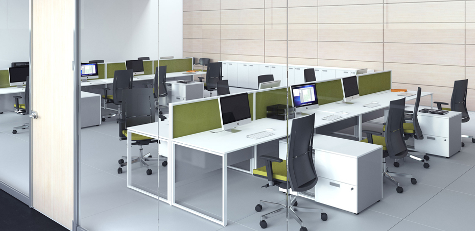 Workstation desking office system 5th Element by Las Mobili Italy