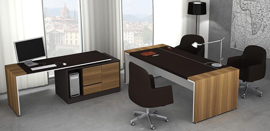 modern design desk loop in by estel office. Black Bedroom Furniture Sets. Home Design Ideas