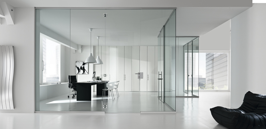 Glass Monolith Partition Walls Time