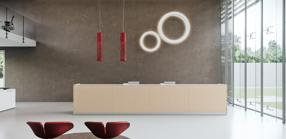The Reception Counter Qubo by Della Valentina | OfficeFurnitureItaly