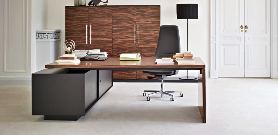 executive office desk report by sinetica l shape