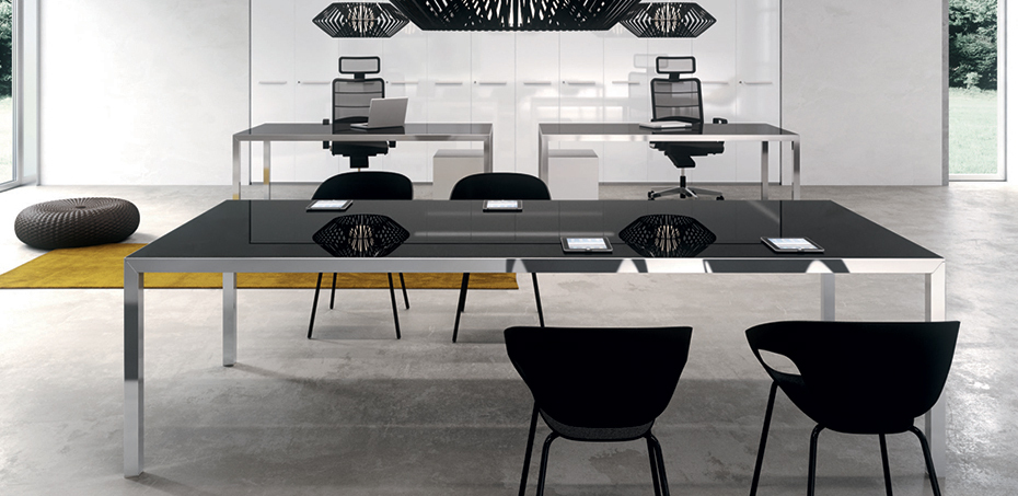 Rym Italian design desk by Della Valentina, design Antonio Morello