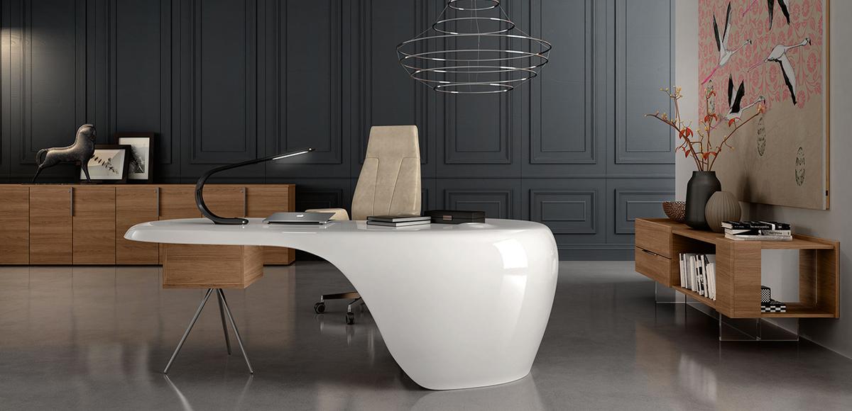 Desk Collection Uno By Della Rovere Designer Karim Rashid
