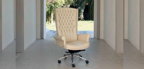 Empire leather armchair Mascheroni